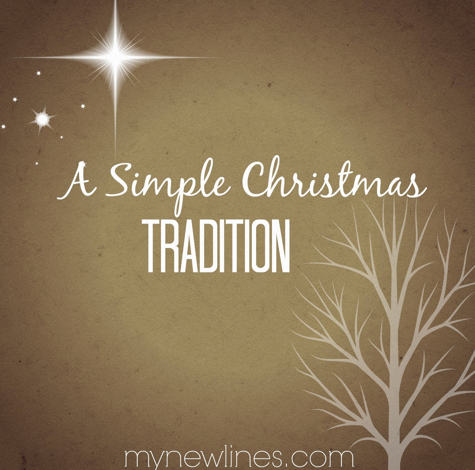 My New Lines: Keeping Christmas Gifts Meaningful and Simple