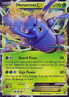 Heracross EX Furious Fists Pokemon Card