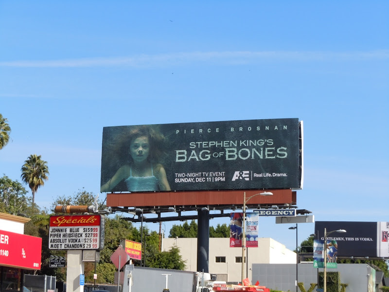 Bag of Bones TV billboard