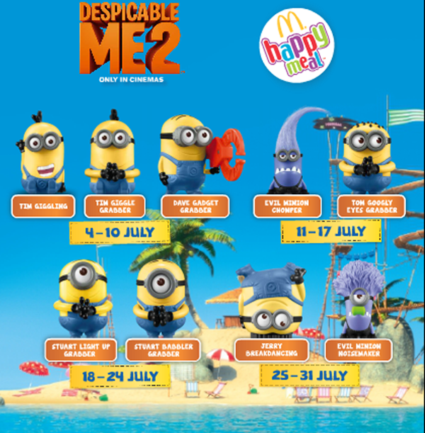 Malaysia is bringing these cute little minion toys and collectibles