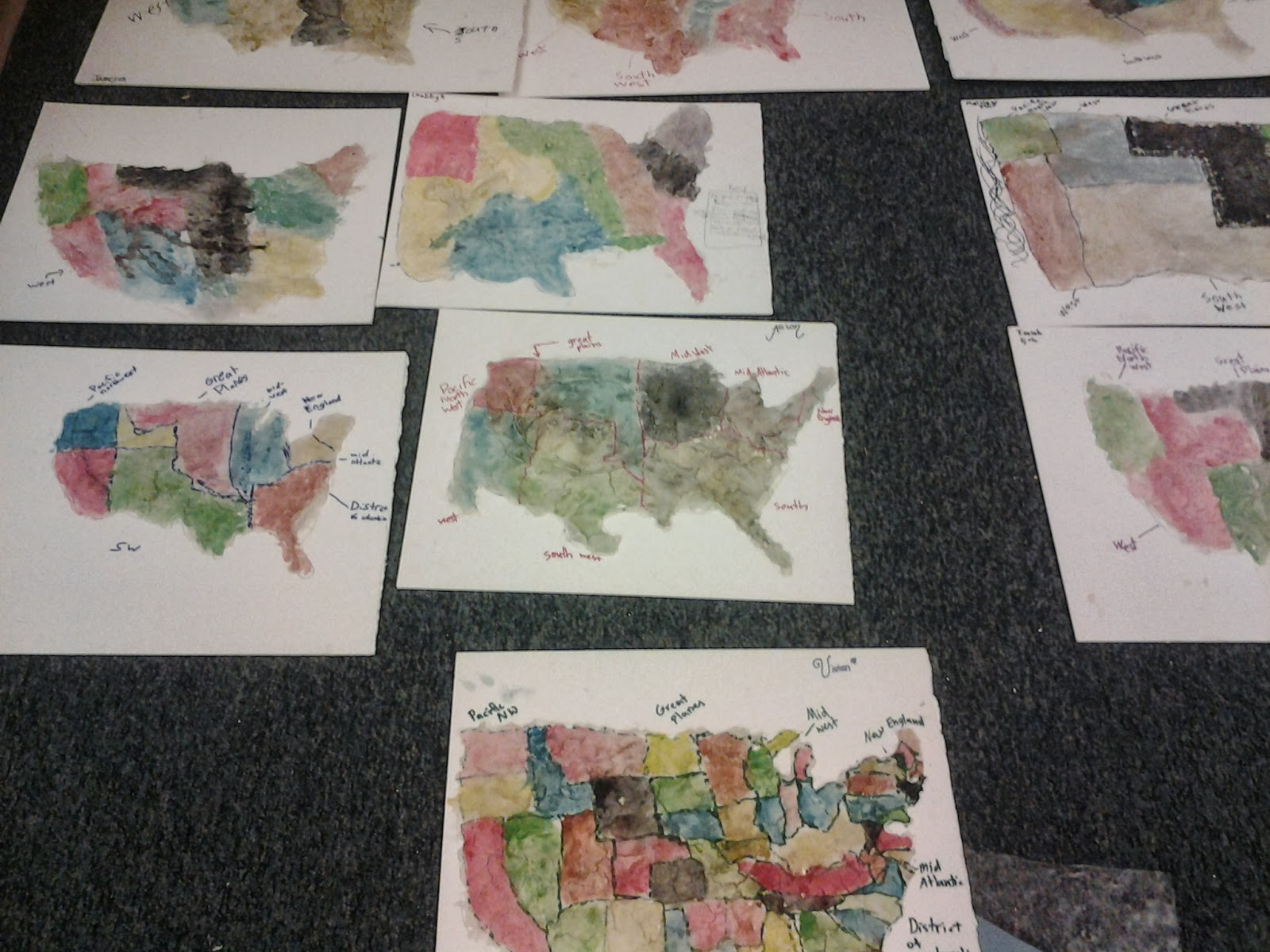 students had a great time painting their regions onto their salt dough clay maps see below for all of their artistic abilities