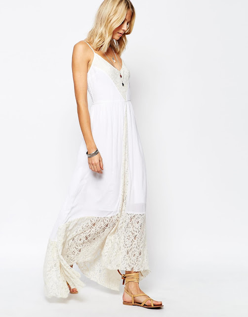 abercrombie white maxi dress