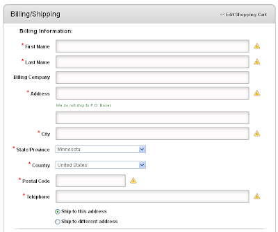 Step 6: Billing and Shipping Information