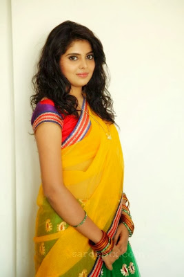 Shravya in half saree