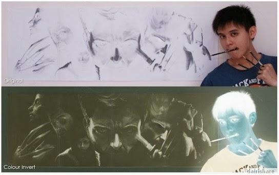 Lukisan Unik Hanya Dapat Dilihat Melalui Gambar Negatif ...