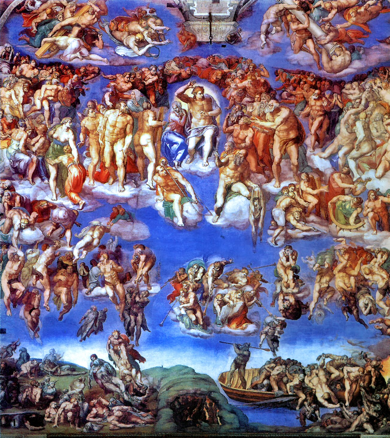 michelangelo and his famous work of art the last judgement The artist later enjoyed more convivial partnerships with other pontiffs, and found a famous champion in pope paul iii, who defended his work the last judgment after church officials deemed.