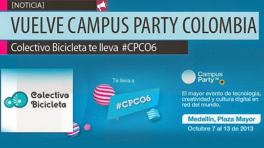 Asiste a Campus Party Co 2013, Colectivo Bicicleta te invita