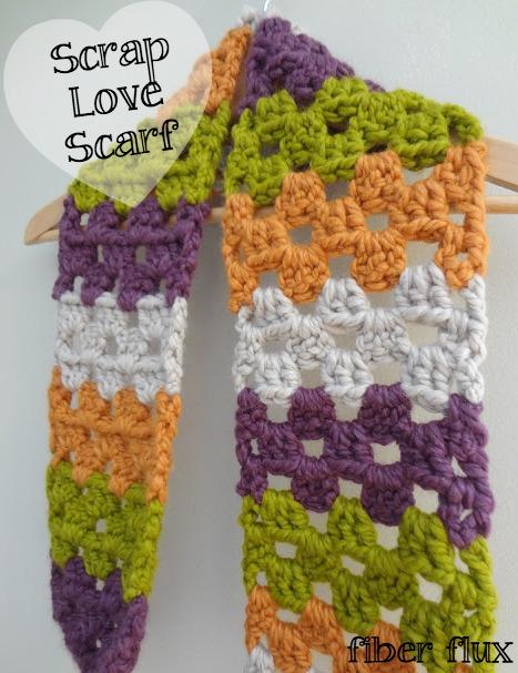 Fiber Flux Free Crochet Patternrap Love Scarf