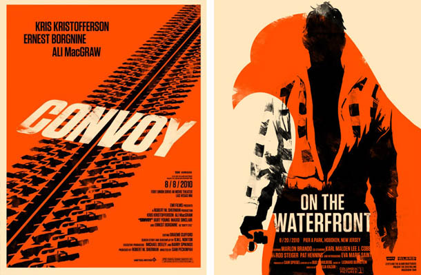 Posters de Cinema minimalistas - Olly Moss - Convoy - On the Waterfront