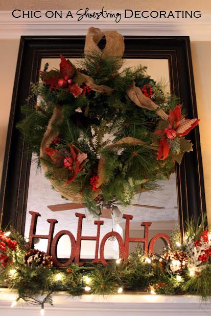 Rustic Christmas Mantel Decorating Ideas