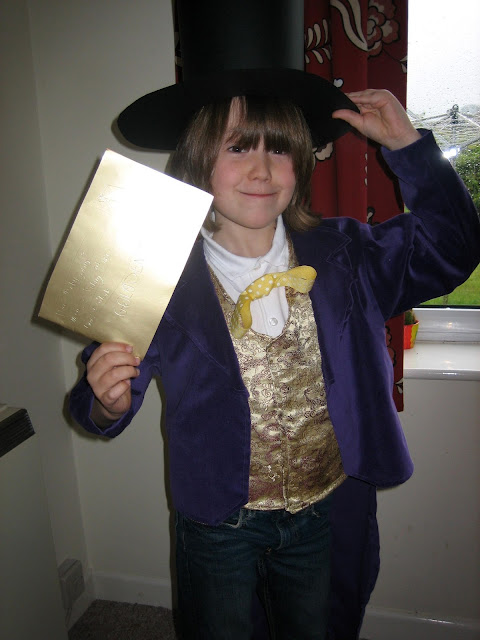 Fancy dress outfit of Mr Wonka from Charlie and the Chocolate Factory