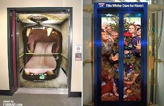 funny creative advertisements in elevator
