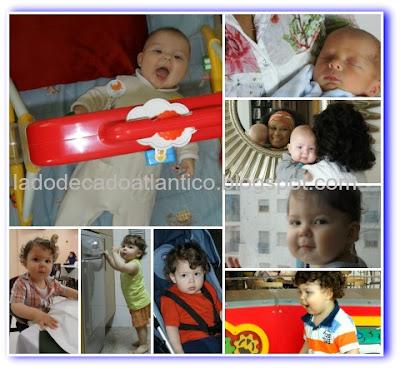 Fotos de várias fases do meu filho Miguel