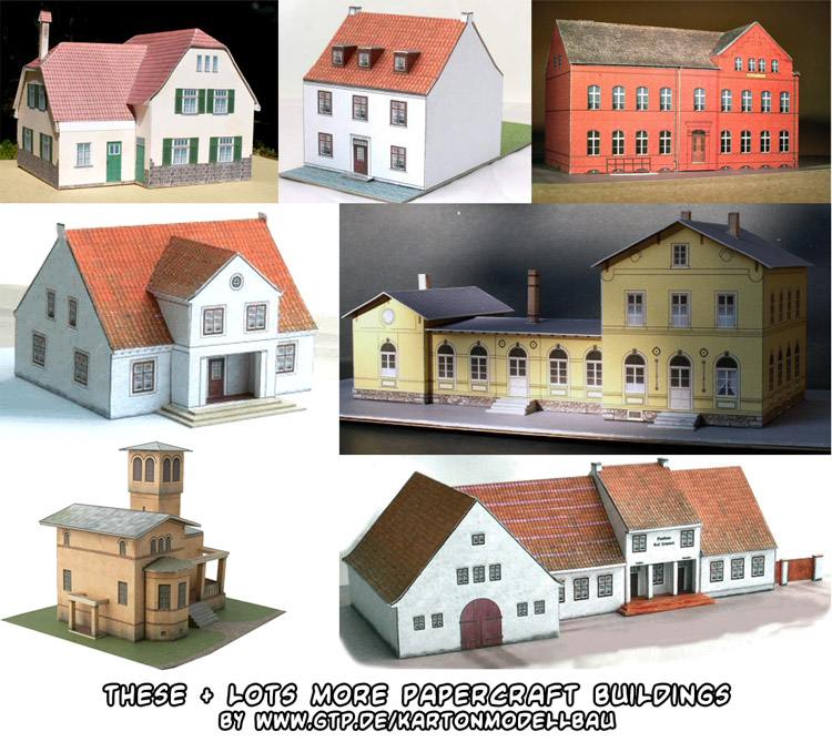 Ninjatoes 39 papercraft weblog lots of different papercraft Building model homes