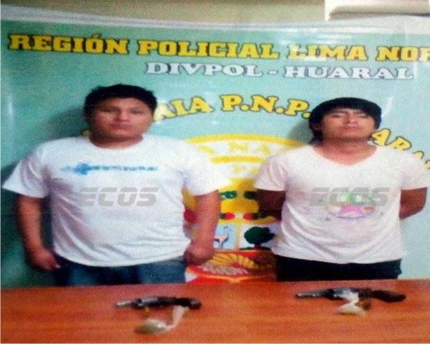 """A balazos fueron detenidos """"los pulpínes de Huaral"""""""