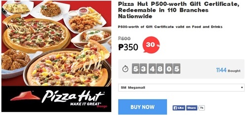 Pizza-Hut, pizza-hut promo, gift certificate, food promo, Ensogo-voucher, Ensogo-review, Pizza hut menu, Pizza hut deals