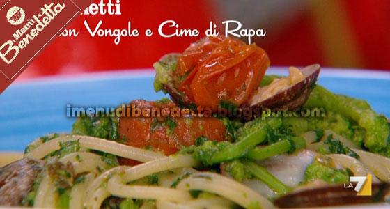 Spaghetti Vongole e Cime di Rapa di Benedetta Parodi