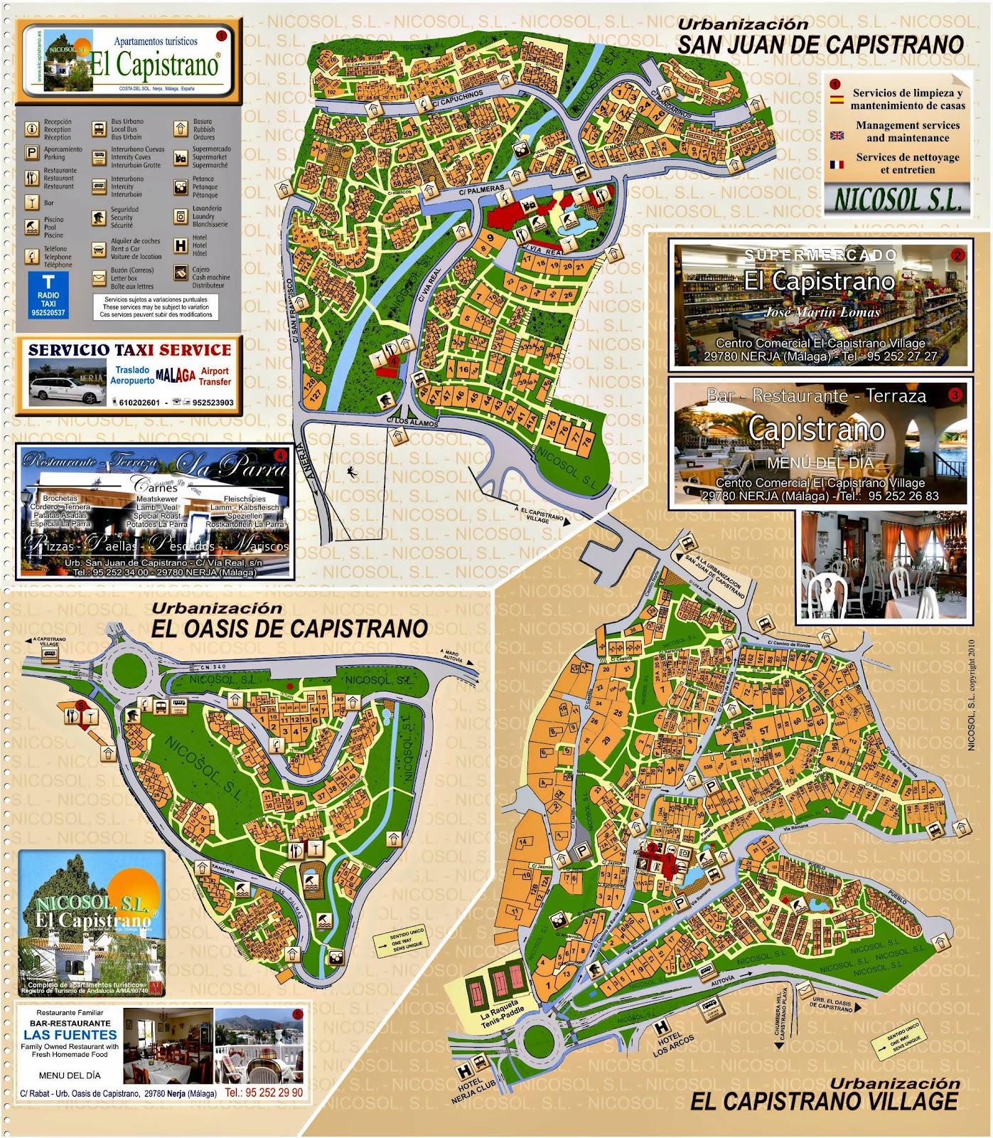 El Capistrano mapas online de las urbanizaciones - Nicosol, SL.