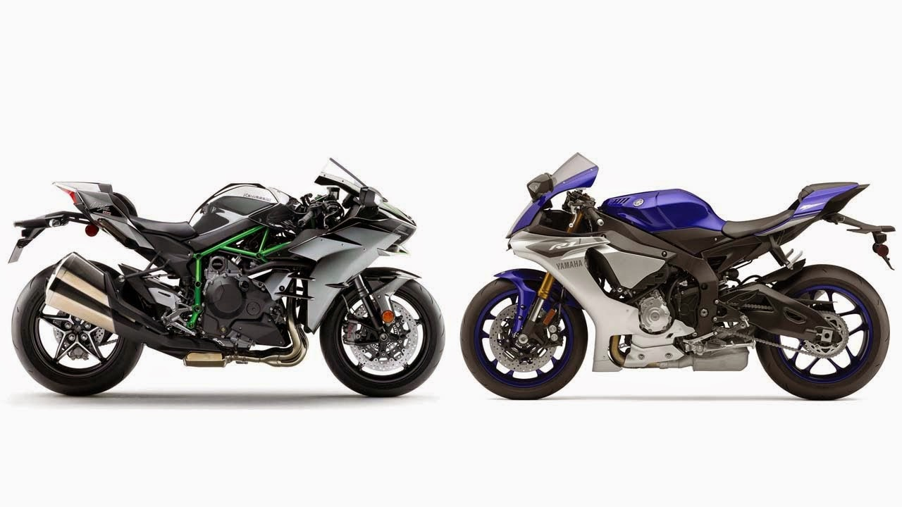 2015 In The Early Year Born Two Super Powerful Bike Kawasaki H2R And Rival Yamaha R1M Both Are 1000 Cc Of Engine Displacement