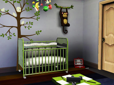 baby green bedroom sims 3