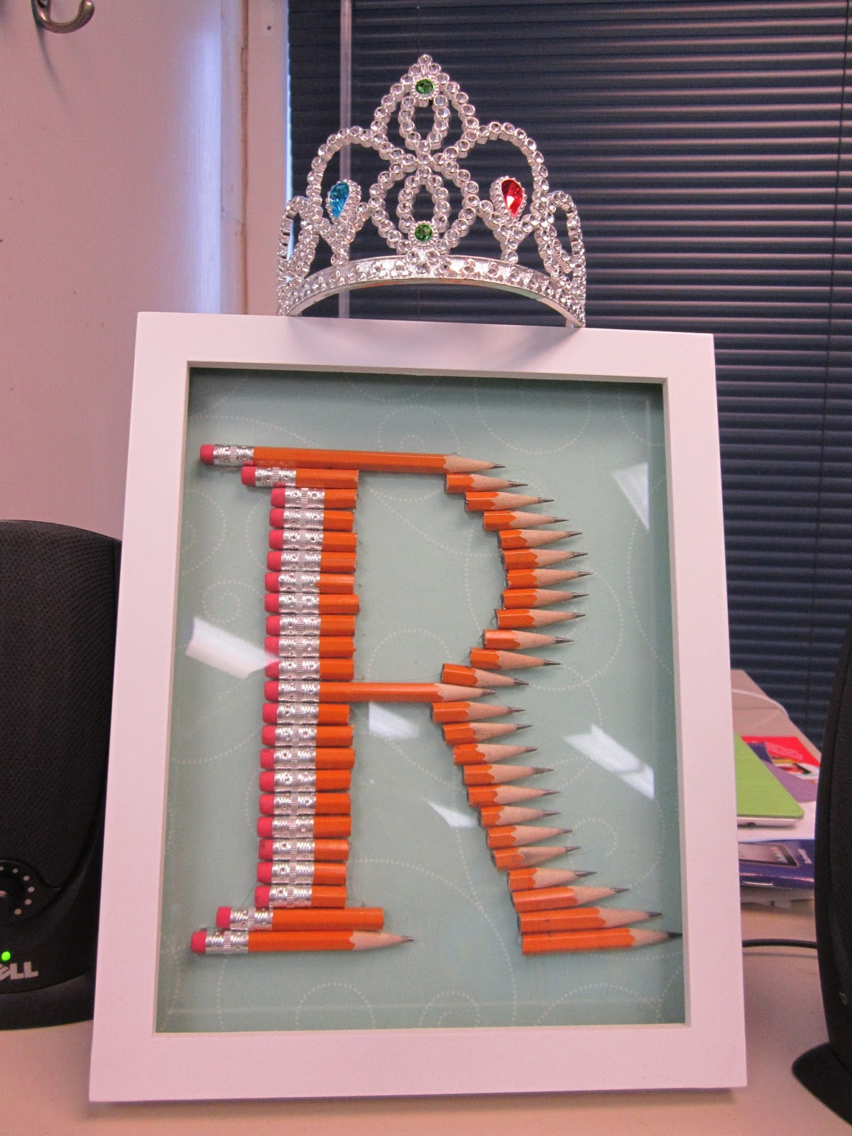 Classroom Decor Diy ~ Classroom diy pencil monogram