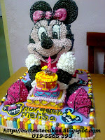3D Minniemouse cake