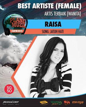 Raisa - Musisi Indonesia Terbaik APM 2015