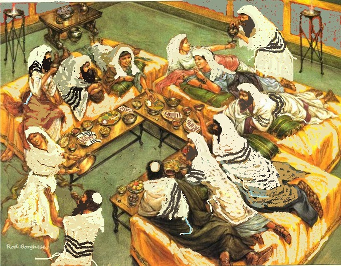 Jewish Jesus - Art Exhibit: Reclining at the Seder Meal.... Jewish ...