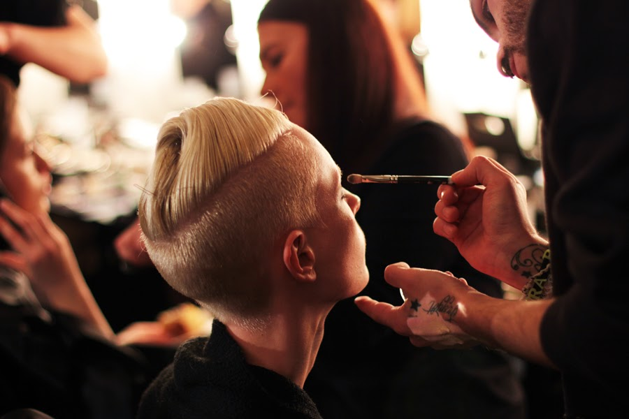 mac make up stylist berlin fashion week augustin teboul backstage