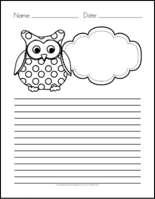 http://www.teacherspayteachers.com/Product/Owl-Themed-Writing-Paper-FREE-327111