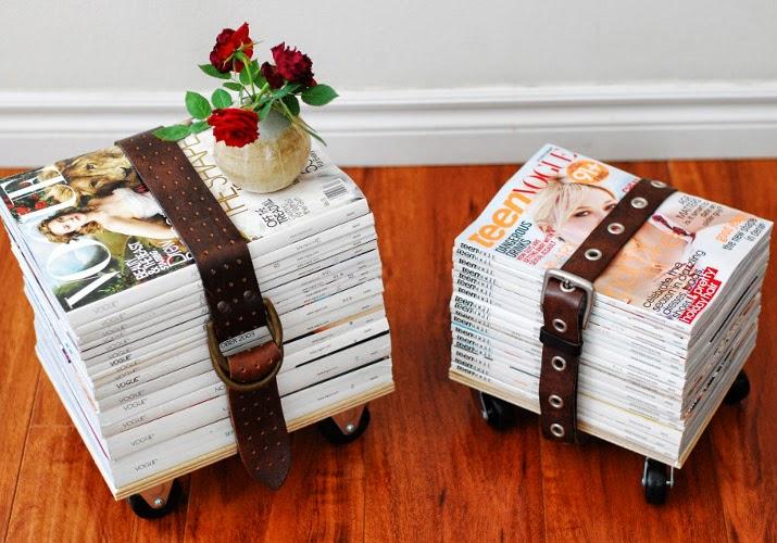 Upcyling: Hocker aus Zeitschriften selber machen