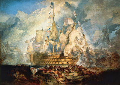 The Battle of Trafalgar by J. M. W. Turner