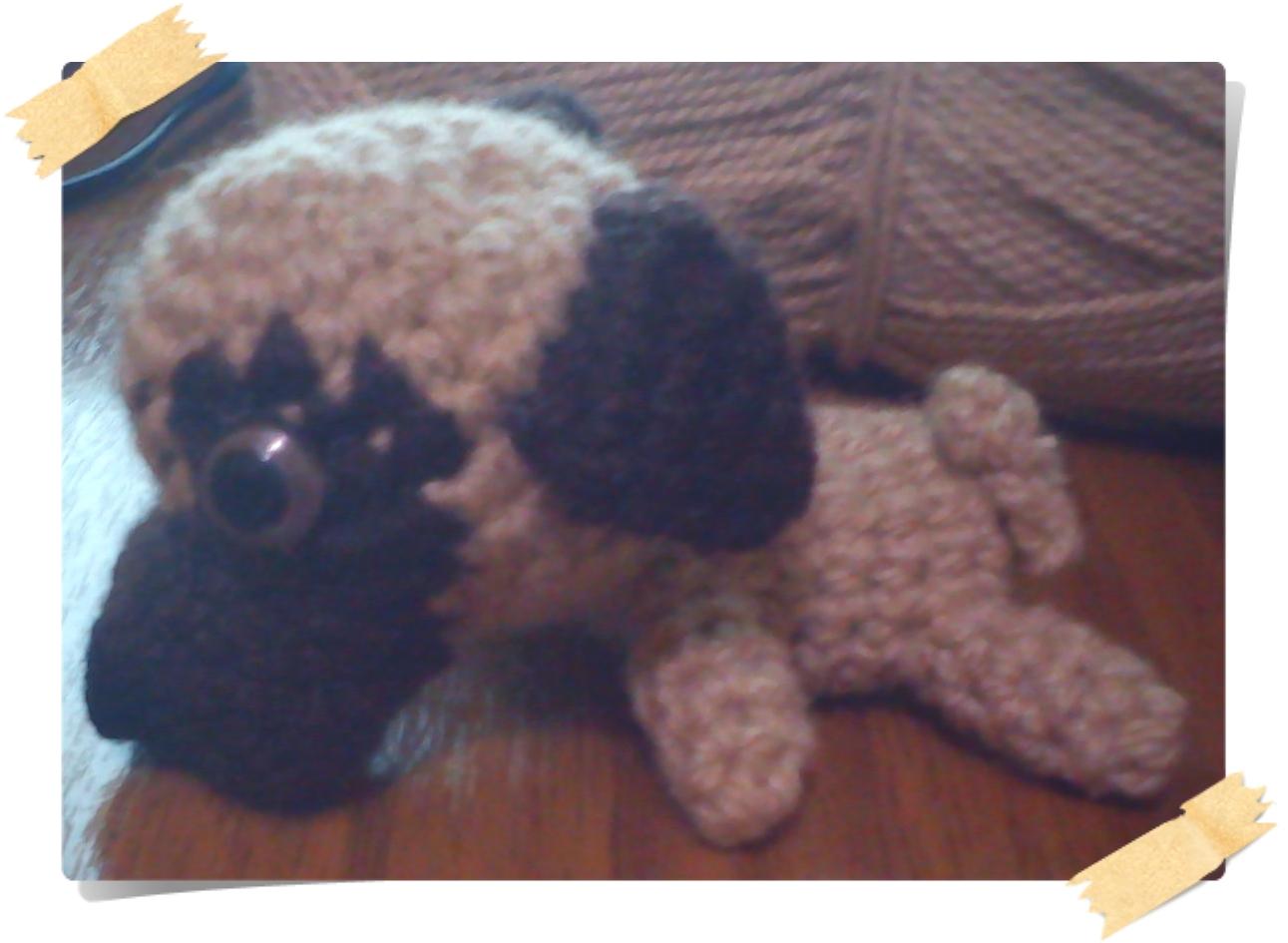 Amigurumi Pug Patron : Hilando Ovillitos: Perrito Pug y Huesito Amigurumi