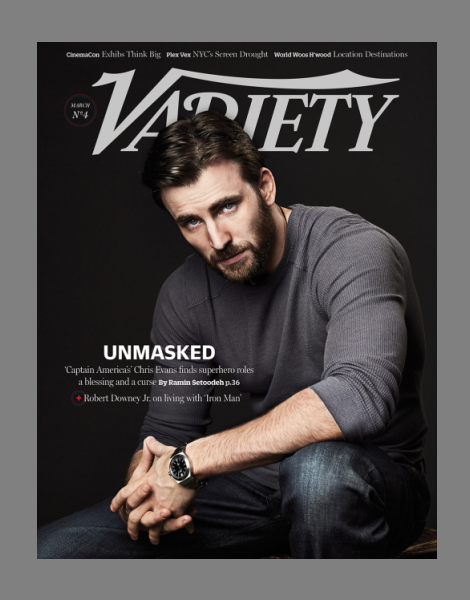 Chris Evans by Danielle Levitt for Variety Magazine