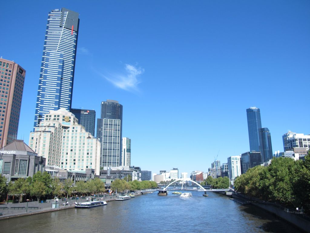 photo of the Yarra River Melbourne on a sunny day. Photo by Susan Wellington