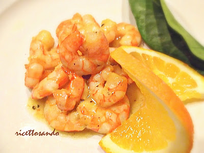 Gamberetti al Curry al profumo d'arancia ricetta risotto