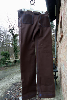 clean slate pants with built in patches, back
