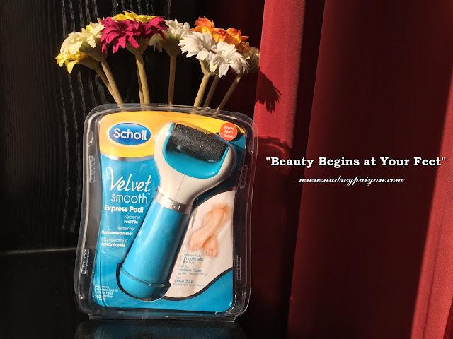 """Beauty Begins at Your Feet"" Scholl Velvet Smooth Express Pedi"