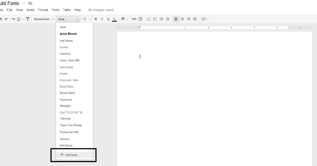 Fly the World: How to add New Fonts in Google Docs or Google Drive Drive