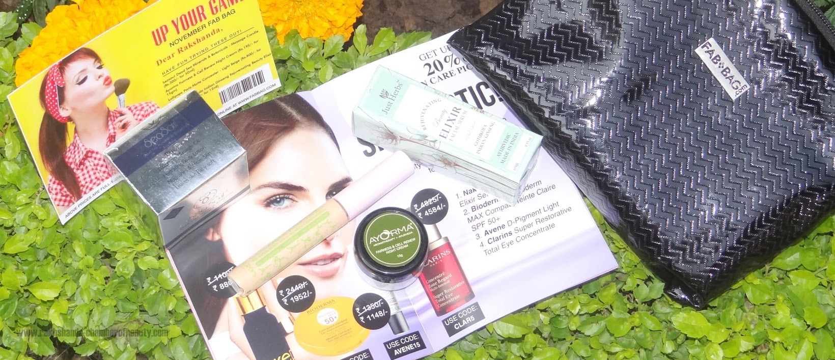 FAB BAG November 2015- Review, Fab Bag review, Indian beauty blogger