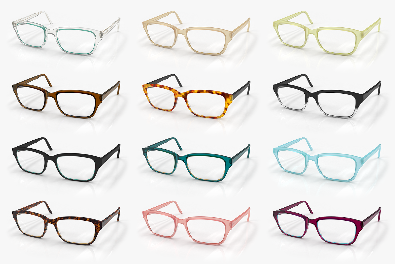 How To Pick Eyeglass Frame Color : The Well-Appointed Catwalk: Interchangeable Frames by Frameri