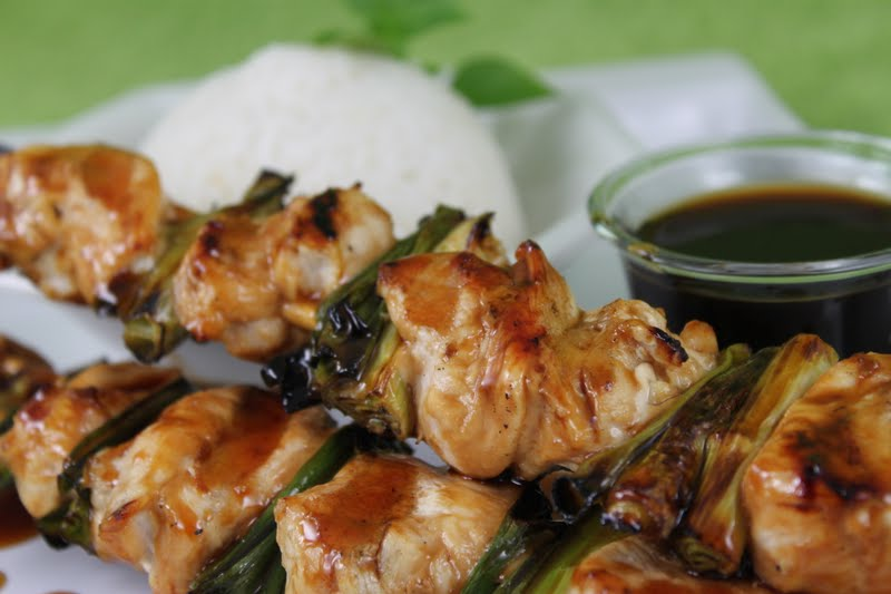 Chicken Yakitori With Honey Sauce Recipe — Dishmaps