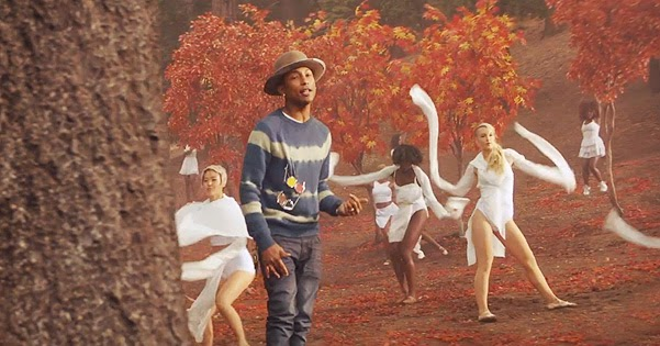 Pharrell Williams presented the video for Gust of Wind