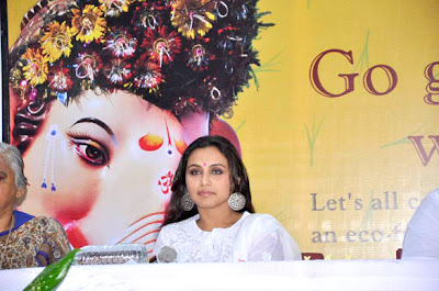 Rani Mukerji snapped at the 'Times Green Ganesha' event