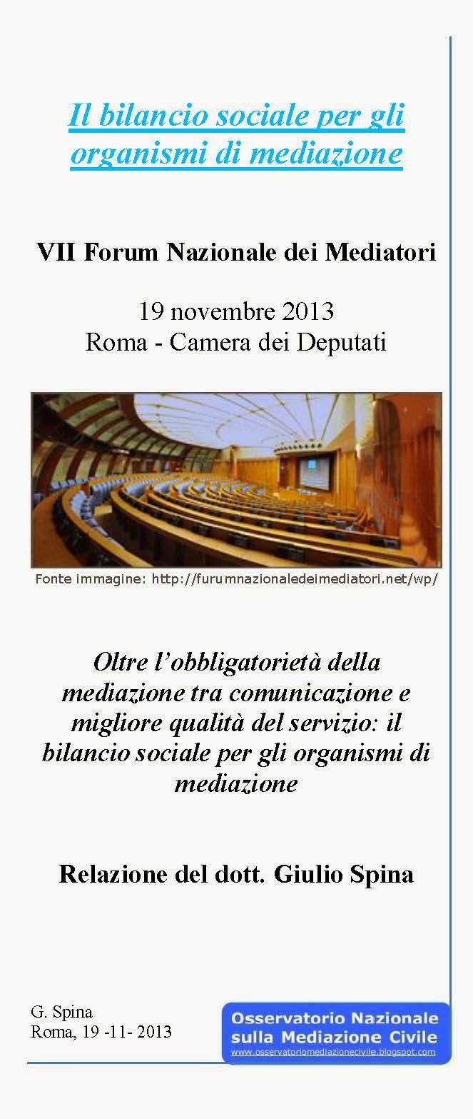 Il bilancio sociale per gli organismi di mediazione