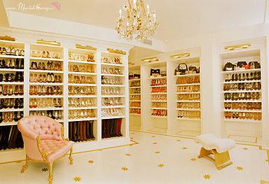 massive shoe closet