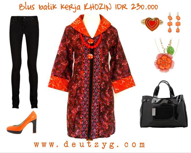 Blus batik kerja KHOZIN-SOLD-