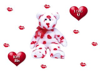 Teddy - I Luv U, Kiss Me Love Wallpaper