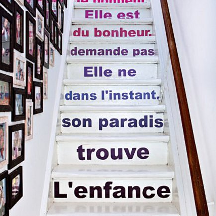 Divine decor on a dime inspirations for my painted staircase - Idee deco pour escalier ...