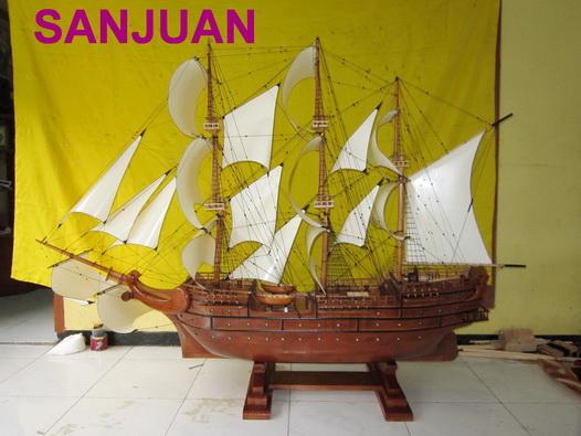 miniatur kapal klasik, miniatur kapal layar sanjuan, miniatur kapal laut